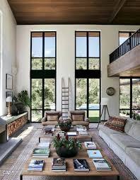 Modern Rustic Living Room Design Ideas Wide And Open Modern Rustic Living Room Black And White Are
