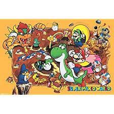 amazon nintendo super mario characters video game poster