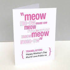 mothers day cards personalised pet translation s day card by loud duck design