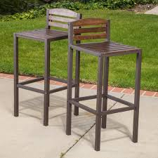 Patio Bar Chairs Patio Bar Stools And Table Furniture Country Style Glass Pub