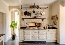 kitchen island with hanging pot rack kitchen room design ideas gorgeous cast iron oven in