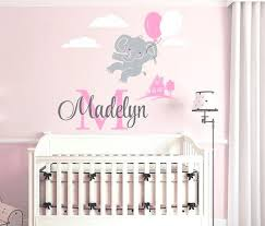 Scripture Wall Decals For Nursery Monogram Wall Decals Nursery Also Flying Elephant Custom Name
