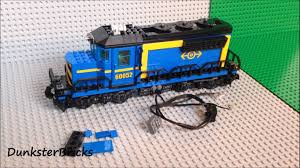 fitting lights to the lego blue cargo train set 60052 youtube