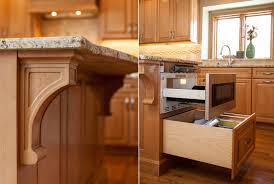 Kitchen Island Corbels Custom Amish Cabinetry In Breckenridge Estates
