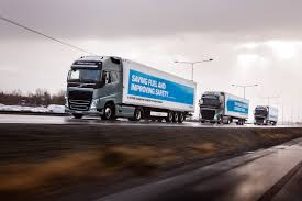 volvo truck and bus volvo self driving truck platoon in the european truck platooning
