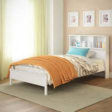 corliving ashland twin single bed with bookcase headboard