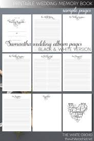 wedding memory book printable wedding memory book pages by whiteorchidpaperie on zibbet