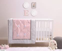 belle princess cot bedding set 3pc pink grey baby cot sets trade me