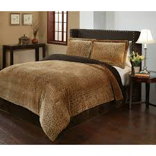 leopard print bedding cheetah velvet plush print bedding comforter mini set