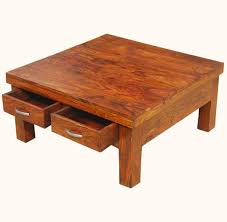 Coffee Table With Drawers by Square Coffee Table With Storage Drawers