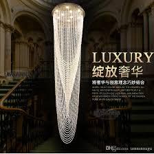 Hanging Chandelier Light Fixture Led Modern Chandeliers Big Long Round Crystal Chandelier Lighting