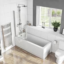 kensington straight shower bath 1700 x 700 with 6mm shower screen