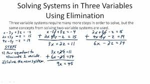 solving linear systems in three variables ck 12 foundation