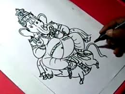 how to lord ganesha drawing for kids step by step youtube