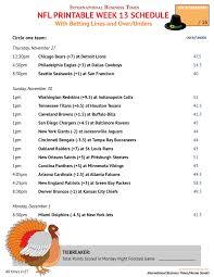 nfl office pool 2014 printable week 13 schedule with betting