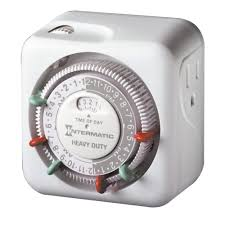 random light timer home depot intermatic 15 amp indoor plug in dial timer for holiday lights and