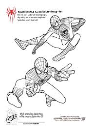 free printable spiderman colouring pages and activity sheets in