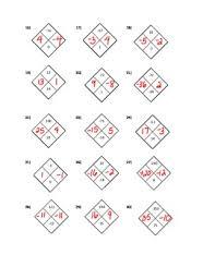 algebra 1 diamond problems worksheet with answers by smarshmath