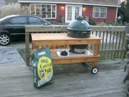 Green Table L Big Green Egg Cook Station Grill Table