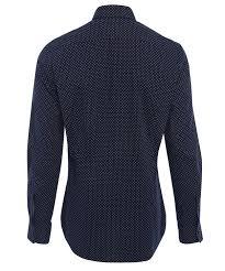 vivienne westwood navy polka dot print shirt in blue for men lyst