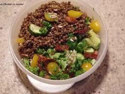 lentille cuisine recettes de salade de lentilles
