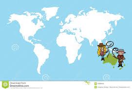 Australian World Map by Australian People Diversity Concept World Map Stock Photo Image