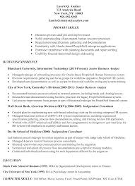 Business Analyst Sample Resume Finance by Ba Fresher Resume Resume For Your Job Application