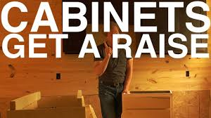 raising kitchen base cabinets cabinets get a raise day 104 the garden home challenge with p allen smith