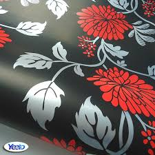 grey wallpaper with red flowers aliexpress com buy wallpaper black matrix flower bedroom wallpaper