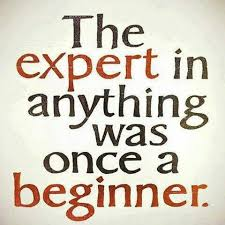 the expert in anything was once a beginner follow your passion