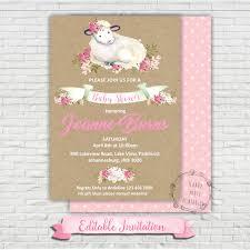sheep baby shower baby shower invitation invite shower