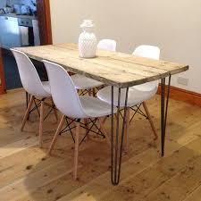 reclaimed scaffold board dining table by gas u0026air studios