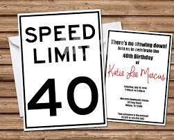 any age speed limit sign birthday invitation u2014 party print express