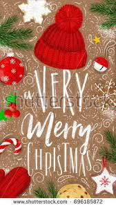 brown christmas poster christmas poster lettering merry christmas stock vector