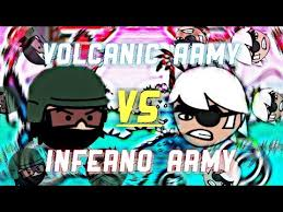 doodle inferno volcanic army vs inferno army doodle army 2 mini militia