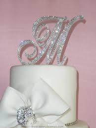 cake topper monogram monogram wedding cake toppers swarovski cake