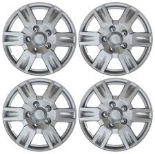 toyota corolla 2006 hubcap 4 set silver lacquer hub caps fits 16 inch wheel cover