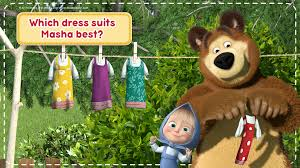 masha and the bear house cleaning games for girls android apps