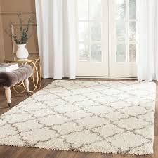 Safavieh Rug by Safavieh Hudson Shag Ivory Gray 5 Ft 1 In X 7 Ft 6 In Area Rug