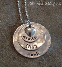Custom Personalized Jewelry Stamped Mommy Necklacecopper Custom Personalized By Oakhilldesigns