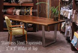 wood slab table legs table legs and bases for hardwood slab table tops