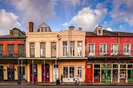 new orleans colorful houses facades of houses in the french quarter vieux carre new orleans