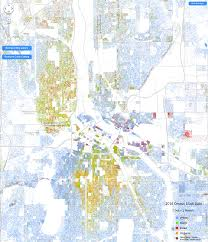 Map Of Twin Cities Metro by Racial Dot Map Streets Mn