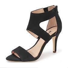 black heels 3 inch strappy heel amazon com