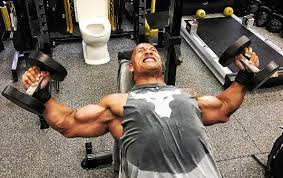 the rock dwayne johnson s workout routine for chest and shoulders