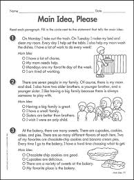 main idea practice worksheets free worksheets library download