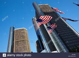Michigan Flags Usa Michigan Detroit American Flags Fly At Base Of General