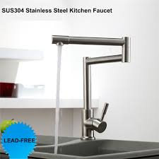 lead free kitchen faucets lead free 360 rotation single handle cold mixer tap brushed