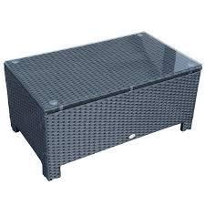 rattan coffee table outdoor outsunny rattan garden furniture coffee table patio iron frame