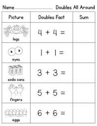 doubles addition facts worksheets adding doubles lessons tes teach